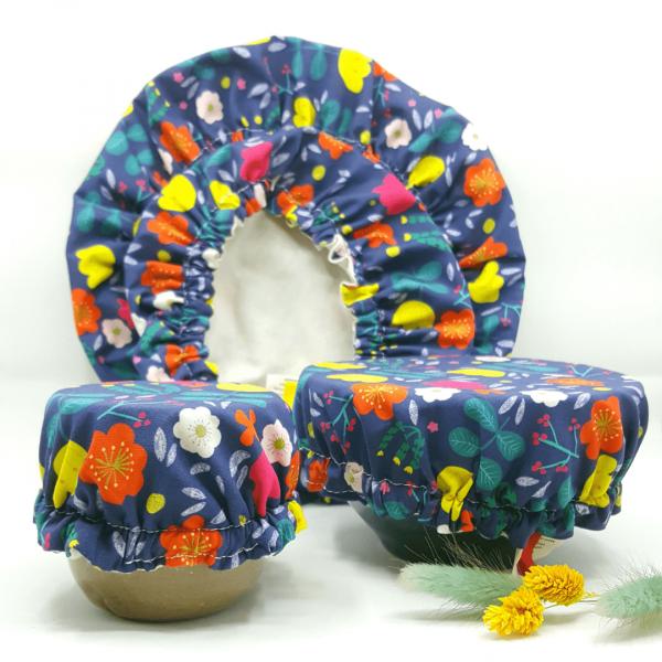 couvre bol tissu collection fleurs des champs