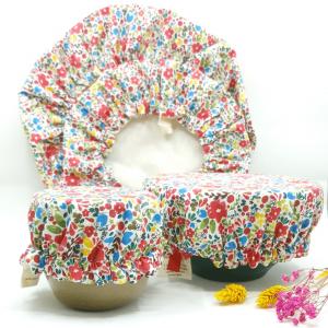 couvre bol tissu fleurettes