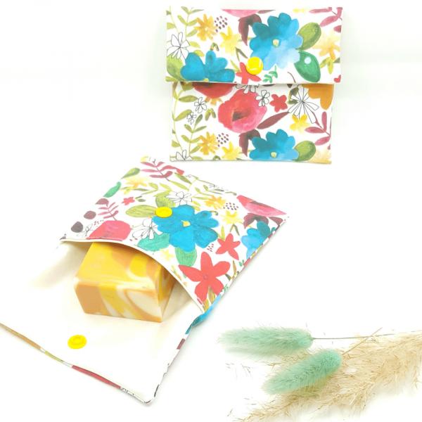 pochette imperméable petit format zéro déchet collection fleurs