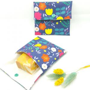 pochette imperméable petit format zéro déchet collection fleurs des champs