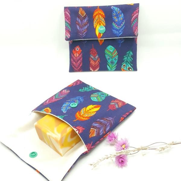pochette imperméable petit format zéro déchet collection plumes