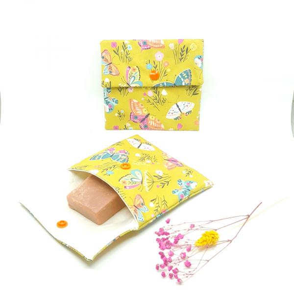 petite pochette imperméable coton biologique zozoï création collection papillon M